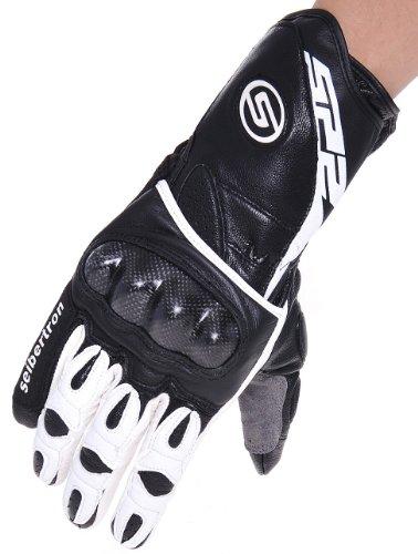 seibertron-guanti-professionali-sp-2-neri-da-motociclista-in-pelle-anti-vento-pioggia-nero-bianco-s