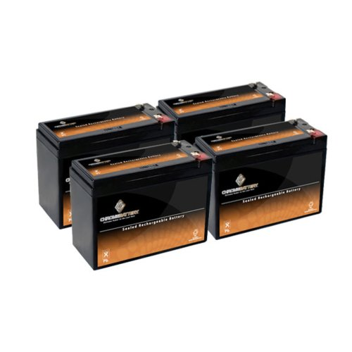 12V 10Ah Sla Battery For Electric Scooter Schwinn S180 / Mongoose - 4Pk