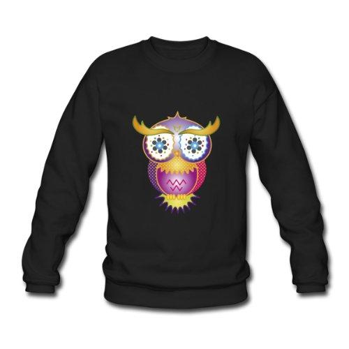Spreadshirt, psychedelische Eule, Men's Sweatshirt, black, L