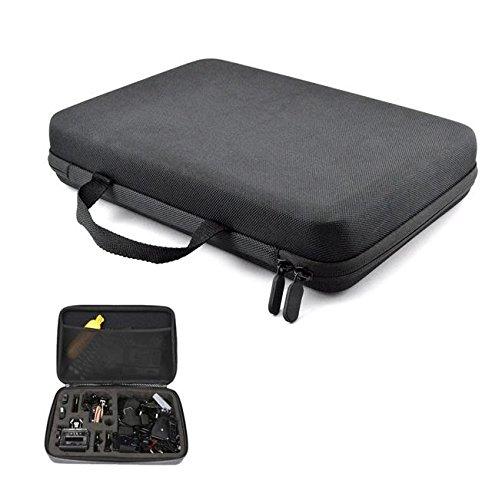 Digicharge® Housse Étui Protection Sacoche Pour Xiaomi YI 4K Wifi Yi 2 II Grand 34x24x7cm - Noir