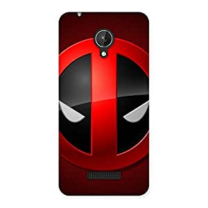Impressive Dead Eye Round Red Back Case Cover for Micromax Canvas Spark Q380