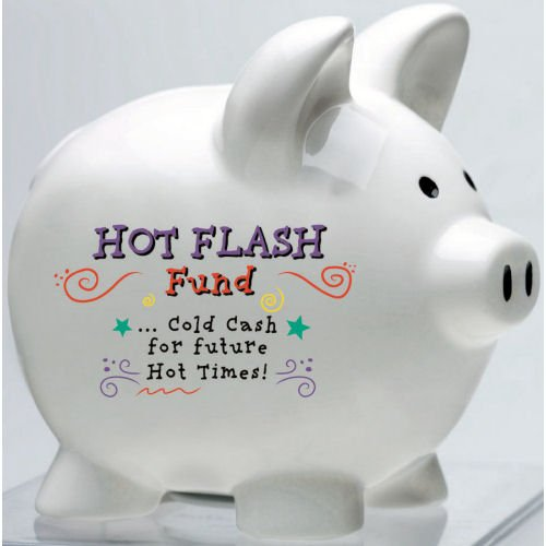 Over the Hill Gag Gift Hot Flash Piggy Bank