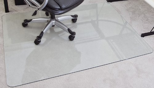 MyGlassMat 48 X 60 Inch Tempered Glass Chair Mat For Carpet And Hard