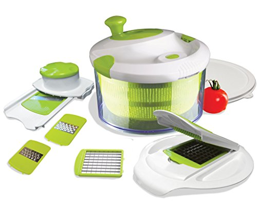 The Sharper Image® All In One Salad Spinner with Chop & Slice Set