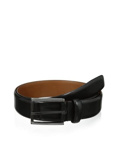 J.Campbell Los Angeles Men's Textured Gunmetal Buckle Leather Belt