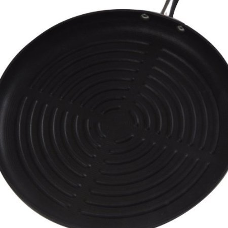 Circulon Contempo Hard Anodized Nonstick 11-1/4-Inch Deep Round Grill Pan back-621943