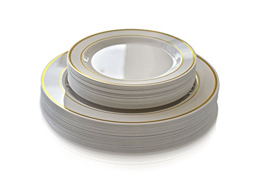 occasions-50-pack-premium-disposable-plastic-plates-25-dinner-25-salad-plates-ivory-gold-rim