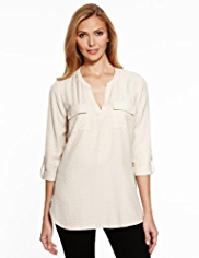 M&S Collection Jacquard Blouse