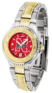 Nebraska Cornhuskers Competitor AnoChrome Ladies Watch with Two-Tone Band by SunTime