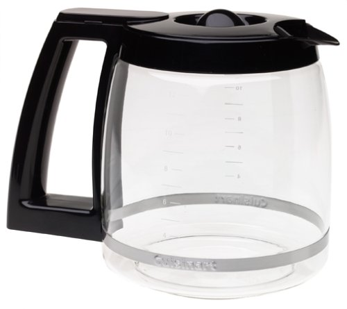 Cuisinart DCC-1200PRC 12-Cup Replacement Glass Carafe, Black (Replacement Coffee Cup Lid compare prices)