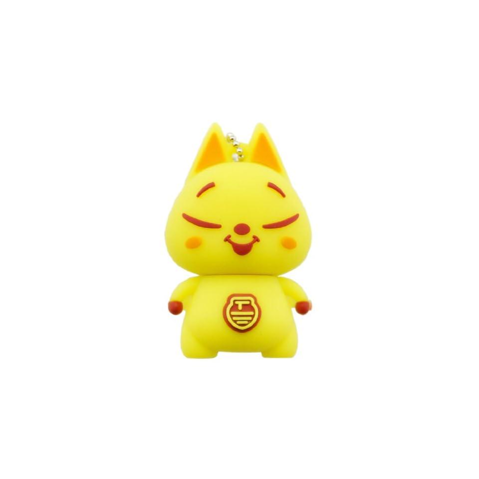 Cartoon Qute High Quality 16gb USB Flash Drive Memory  Yellow cat
