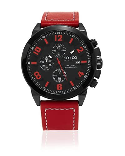 SO & CO New York Reloj con movimiento cuarzo japonés Gp15944 Rojo 48  mm