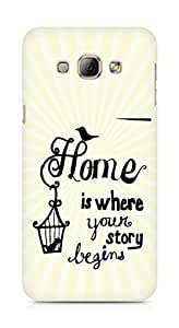 AMEZ home is where your story begins Back Cover For Samsung Galaxy A8