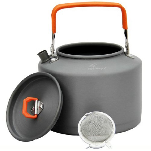 Outdoor Stainless Tea / Coffee Kettle With Scald Protection Handle 1.5L Fmc-T4