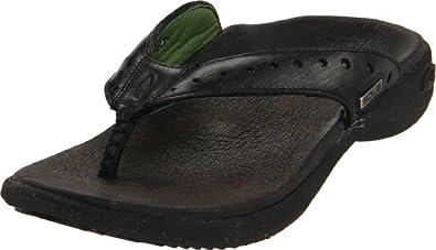 SOLE Women's Premium Flips Flip Flop sandal,Onyx,8 M US