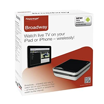 Hauppauge Broadway-HD TV Tuner and Streaming Device for Apple iPad, Android Tablets, Computers, and Smartphones - Black (1436)