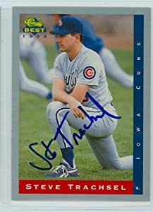 Steve Trachsel AUTO Iowa Cubs Classic Best Minor Leagues JSA Auction Lot by Autographed Baseball Cards (1990- )