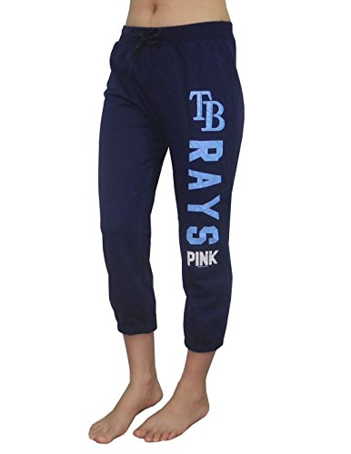 Womens MLB Tampa Bay Rays Yoga Crop Pants by Pink Victoria's Secret S Dark Blue