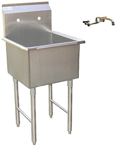 Apex DuraSteel 1 Compartment Stainless Steel Commercial Food Preparation Sink with 8