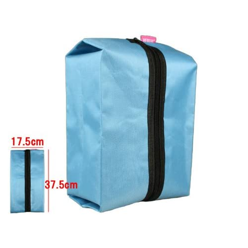 折畳み防水旅行小物バック/ブルー