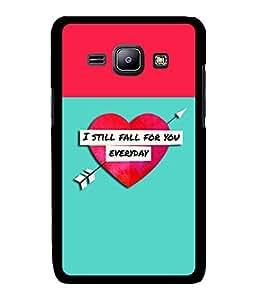 Fuson 2D Printed Love Designer back case cover for Samsung Galaxy J1 - D4294