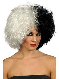 Evil madam wig half black half white cruella de ville peluca amazon