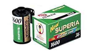 Fujifilm Fujicolor Superia 1600 Color Negative Film ISO 1600, 35mm, 36 Exposures