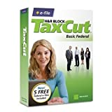 H&R Block TaxCut 2008 Basic Federal + e-file for Windows/Mac ~ H&R Block