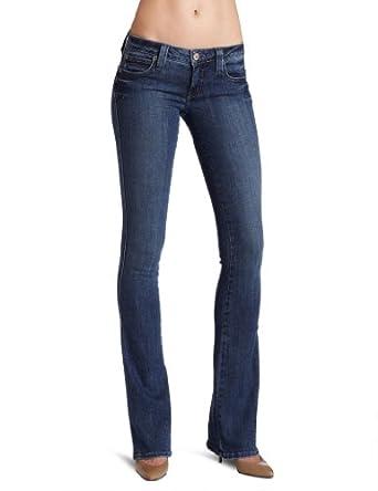 Frankie B. Women's Borderline Slim Boot Jean, Destructed, 24