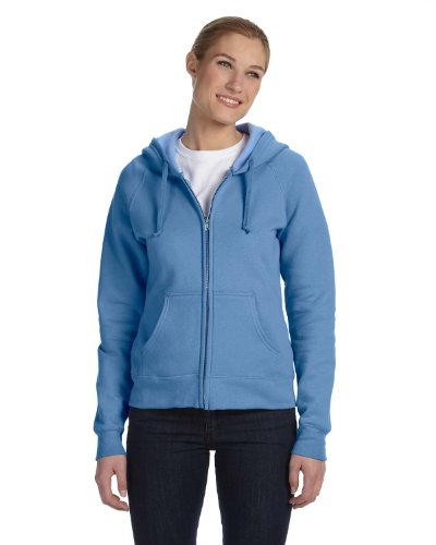 Hanes Women's Fleece Full-Zip Hood - 8 oz Black Small Hanes 8 oz Women's
