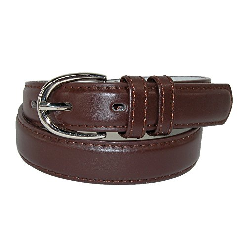 CTM Girls Leather 3/4 inch Basic Dress Belt (Pack of 2), Large, Brown (Teen Girl Belts compare prices)