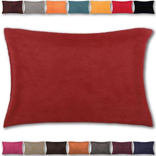 Kissenhülle Kuschel 30 x 50, Auswahl: rot - scarlett mit Füllung -