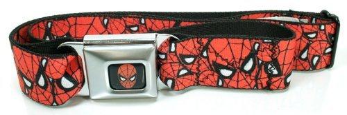 Amazing Spider-Man Stacked Faces Seatbelt Belt (One Size)