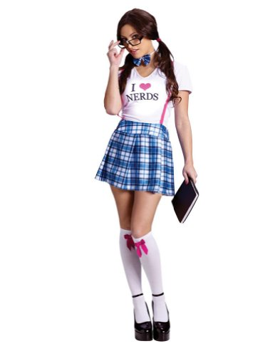 I Love Nerds Adult Sd 2-8 Adult Womens Costume
