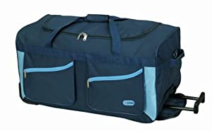 "5 Cities® 27"" Plum Wheeled Holdall Trolley Bag. Only 2.6kg and 78l Capacity"
