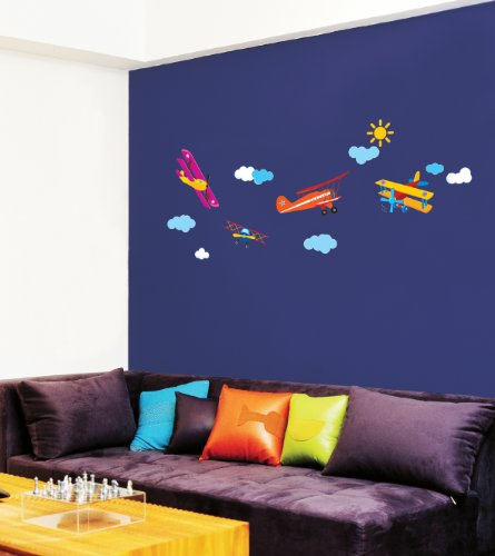 Jiniy AIRPLANE WALL ART DECOR Mural Decal STICKER(JSS58223)