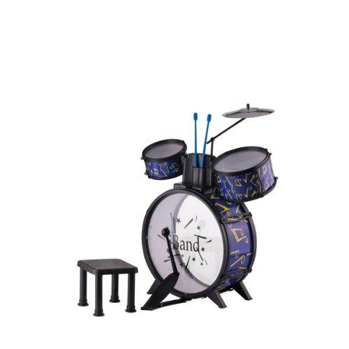 Eddy Toys - 31123 - Instrument de Musique - Batterie et Tabouret x8 - 35x60x39 cm