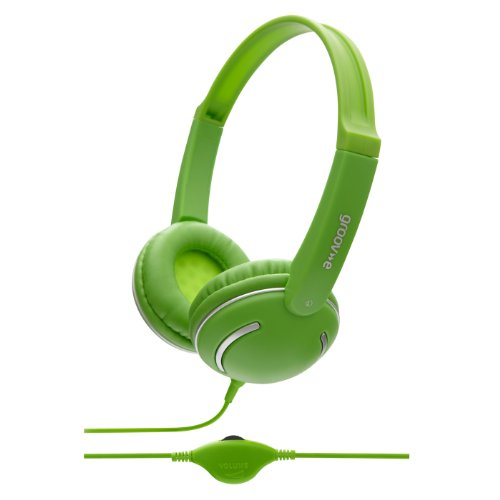 Groov-e GV897/GN Kids DJ Style Streetz Headphones with Volume Control - Green