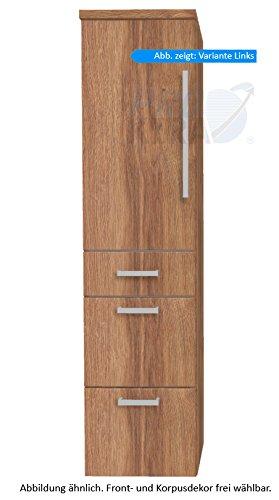 puris Star Line armadio alto (hna094a7ml/R) Mobile da bagno, 40cm