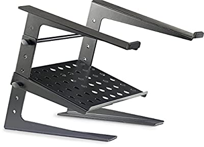 Stagg DJS-LT20 Professional DJ Laptop Stand with Lower Support Shelf from Stagg