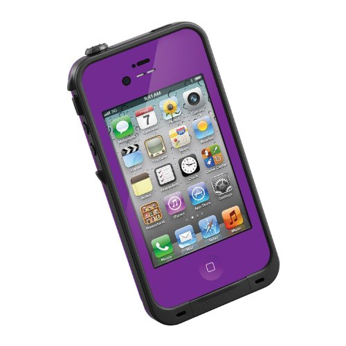 HESGI New Waterproof Shockproof Dirtproof Snowproof Protection Case Cover for Apple Iphone 4 4S Purple (Iphone 4s Energy Case compare prices)