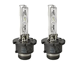 MAXLUX HID Xenon Bulbs D2C (D2S/D2R) 6000K (1 Pair, Diamond White)