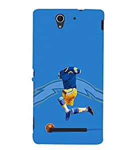 EPICCASE Flashy footballplayer Mobile Back Case Cover For Sony Xperia C3 (Designer Case)