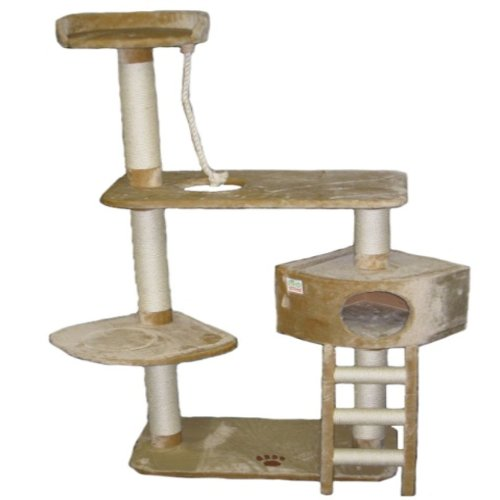 Go Pet Club 64-Inch Cat Tree, Beige