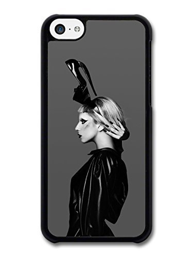 [AMAF © Accessories Lady Gaga Shoe Hat Black & White Born This Way case for iPhone 5C] (Lady Gaga Born This Way Wig)
