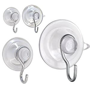 OOK 59226 10 Piece Assorted Suction Cup Kit - Holds tight on appliances, windows, mirrors, tile-virtually on any smooth non-porous surface.