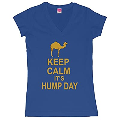Keep calm, it's hump day Juniors V-Neck T-Shirt