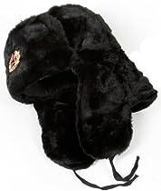 Hat Russian Ushanka Black-54 Soviet Army soldier