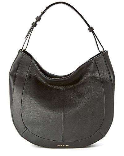 Cole Haan Cameron Leather Hobo Bag, Black