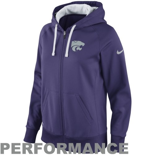 Nike Kansas State Wildcats Ladies Performance Sideline Scoop Full Zip Hoodie - Purple Amazon.com
